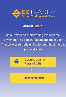 Mobile Website EZTrader