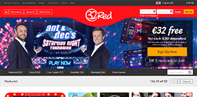 The 32red Casino website