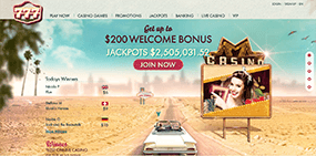 The picture of the 777casino website