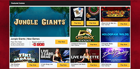 Some of the avilable Betfair casino games