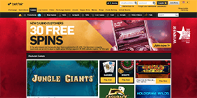 An image of the Betfair casino website