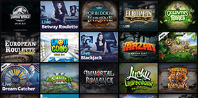 Some games that are available at the Betway Casino