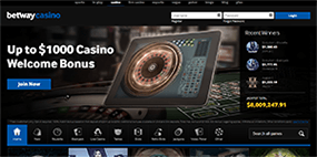 The Betway Casino website