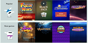 Only some games of the big game selection at Casumo casino can be seen here