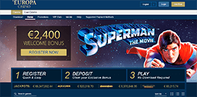 A small image of the Europa Casino website