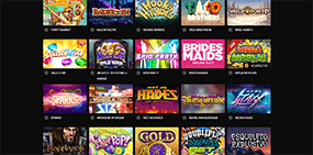 Some of the available games at the Guts casino