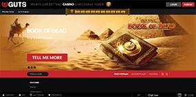 A small picture of the Guts casino website