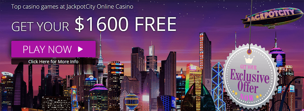 A screenshot of the Jackpot City bonus offer