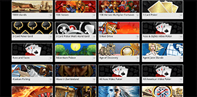 A screenshot of some available games at Jackpot City