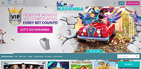 A screenshot of the Karamba website