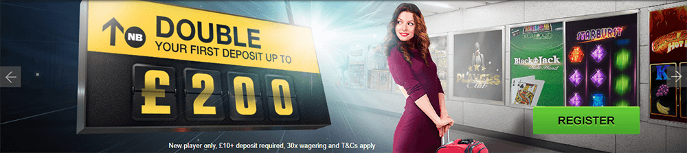 This large screenshot shows the Netbet Casino offer