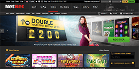 This screenshot shows the Netbet Casino website
