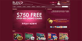 The user-friendly Ruby Fortune website is displayed here